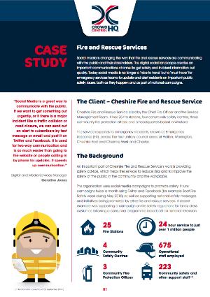 Cheshire Fire & Rescue Service Case Study